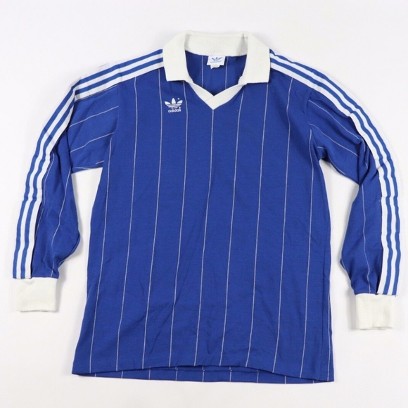 Vintage 80s New Adidas Long Sleeve Soccer Jersey